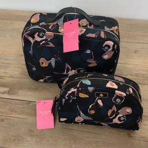 NWT Kate Spade Set Travel Cosmetic Make-up Bags